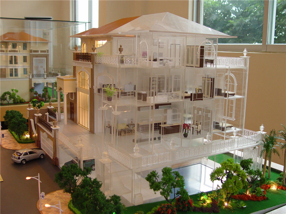 Refined Handmade Architecture House Model With Internal Layout / Furniture